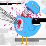 Twitter bird exploding