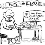 Pam's nan selling ham & flan (in a scam)