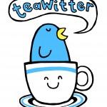 A twitter bird in a teacup