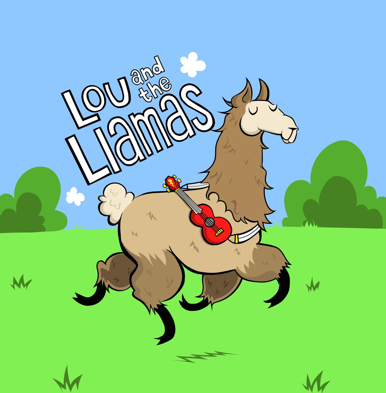 A llama with a ukulele